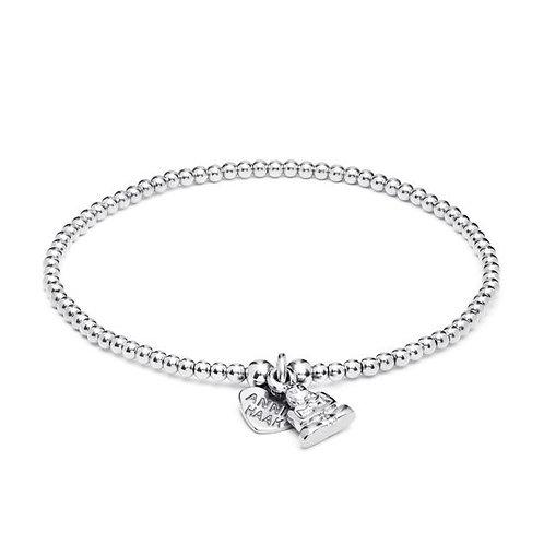 Santeenie Silver Charm Bracelet-Buddha