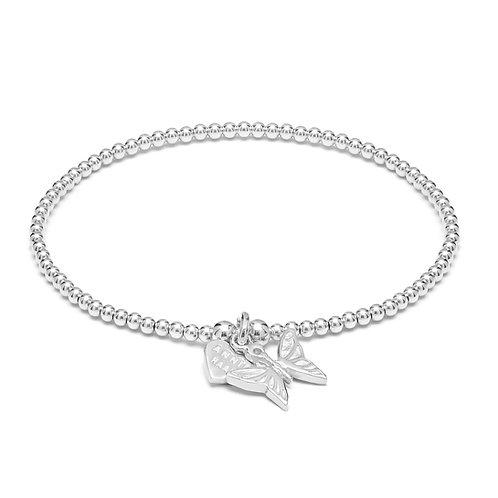 Santeenie Silver Bracelet-Butterfly
