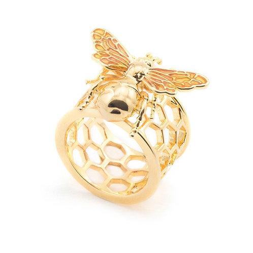 Queen Bee Honeycomb Ring
