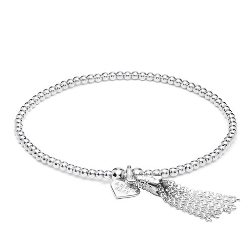 Santeenie Silver Bracelet-Chain Tassel