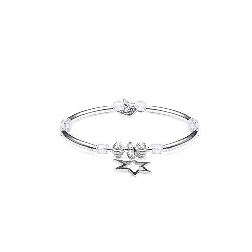 Rock Crystal Star Charm Bracelet