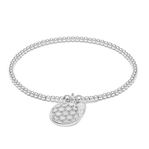 Santeenie Silver Bracelet-Flower of Life