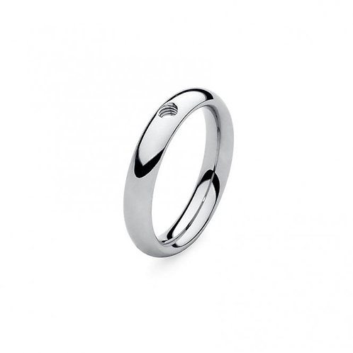 Qudo Stainless Steel Slim Ring