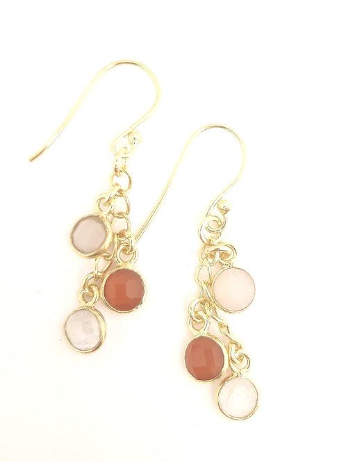 Pink Chalcedony, Red Carnelian &| Moonstone