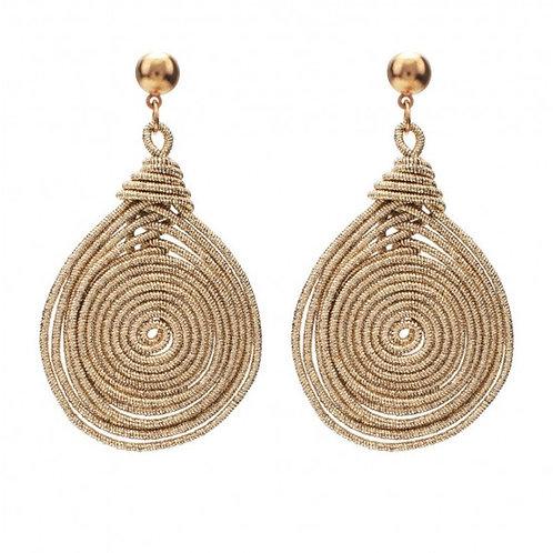Gold Teardrop Rope Earrings