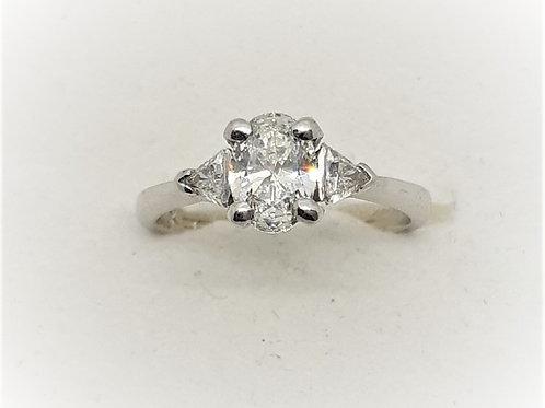 Oval three stone Diamond ring