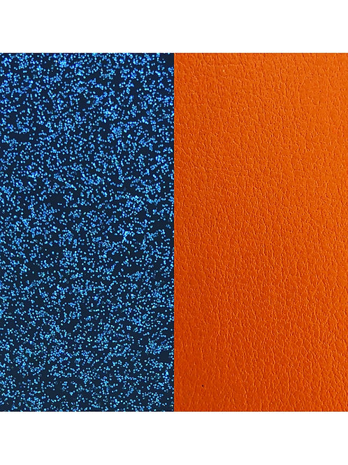 Les Georgettes Blue glitter / Apricot - 25mm leather insert
