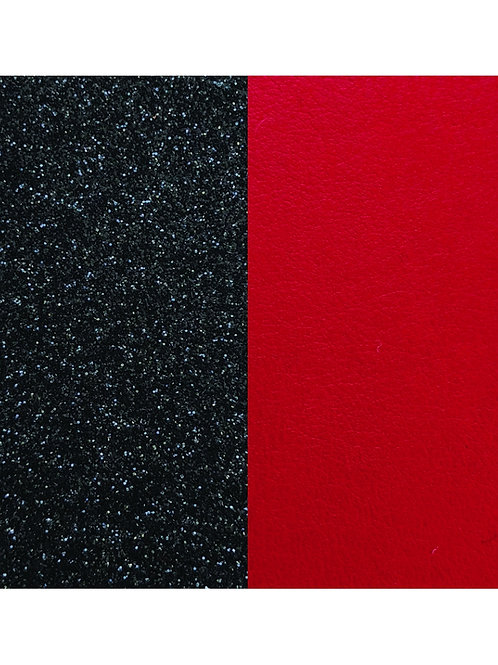 Les Georgettes Black glitter / Red - 8mm leather insert