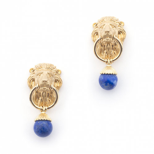 Bill Skinner Lion Earrings
