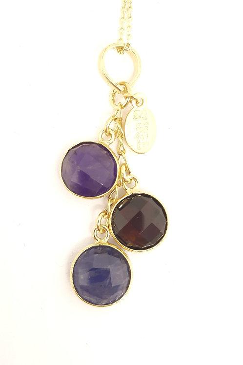 Amethyst, Garnet & Iolite pendant