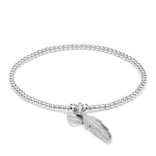 Santeenie Silver Bracelet-Feather