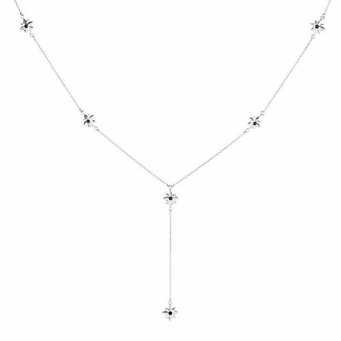 Twilight Black Star Sliver Choker Necklace