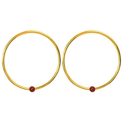 Carnelian Hoop earrings