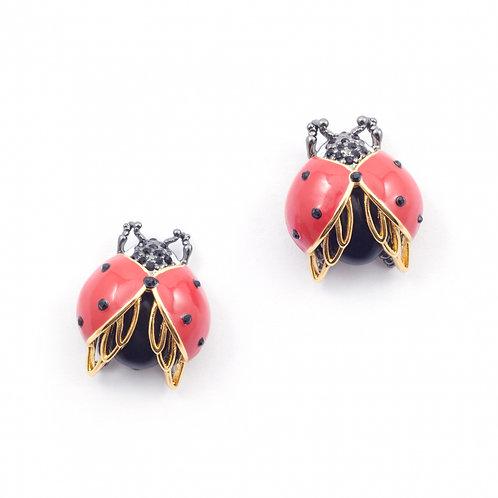Bejewelled Ladybird Earrings