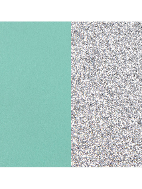 Les Georgettes Aqua / Silver Glitter - 40mm leather insert