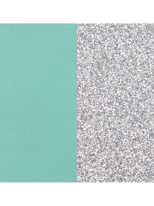 Les Georgettes Aqua / Silver Glitter - 25mm leather insert