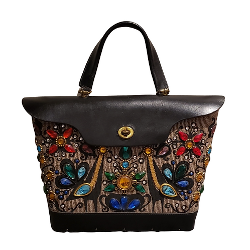 SORRY, SOLD! - Vintage Enid Collins, Pavan, 1960's, Bucket Style Fabric Handbag