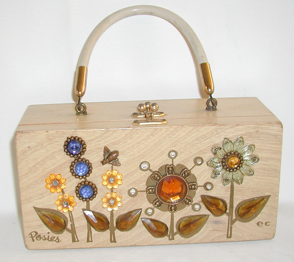 Enid Collins wooden box bag