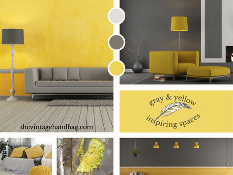 Gray & Yellow: Still On Trend!