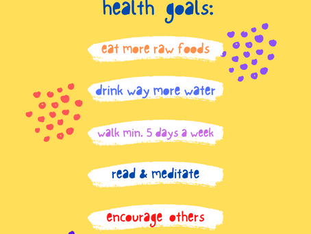 My Top 2021 Health Goals, and Why I chose them!