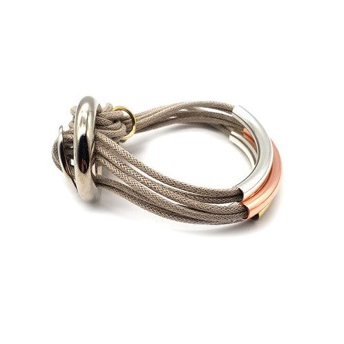 Beige Trio-Colour 4 Bar Bracelet
