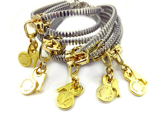 Zip Me Up - Gold / Silver Single Bracelet