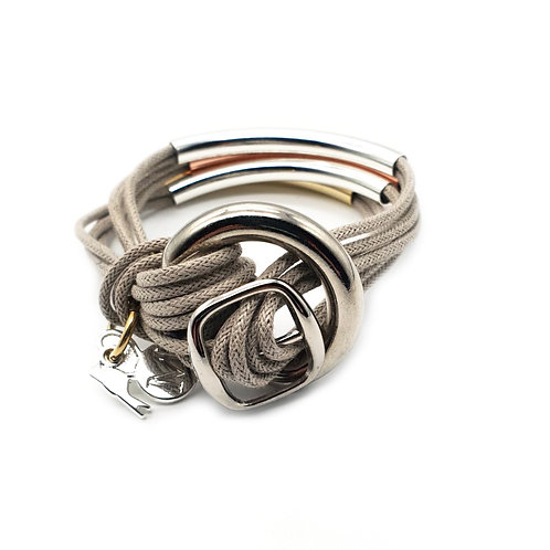Grey Trio-Colour 4 Bar Bracelet
