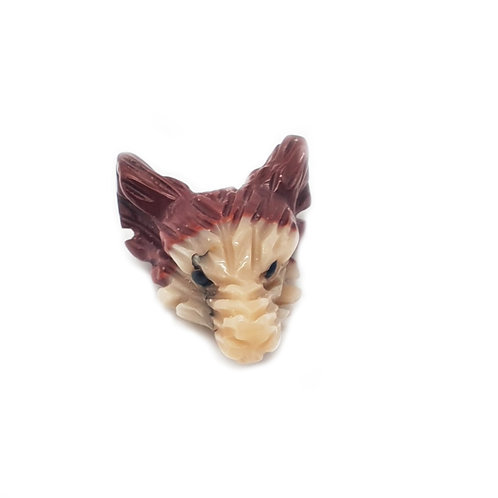 Wolf Head-Mookaite Jasper 20mm