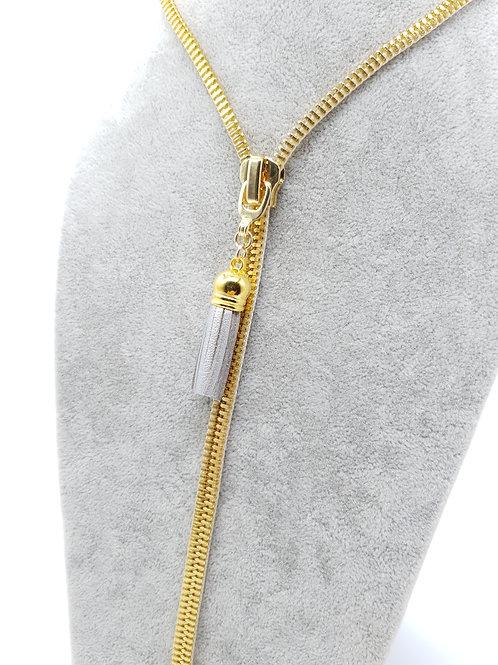 Zip Me Up, Zip Necklace- Gold Tassel Necklace