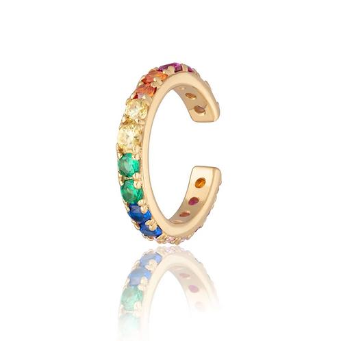 Rainbow Sparkling Ear Cuff - Single Ear Cuff