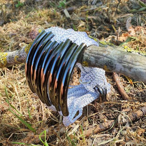 8 Bar / Tube Bracelet Sparkly Silver Gunmetal  Tubes