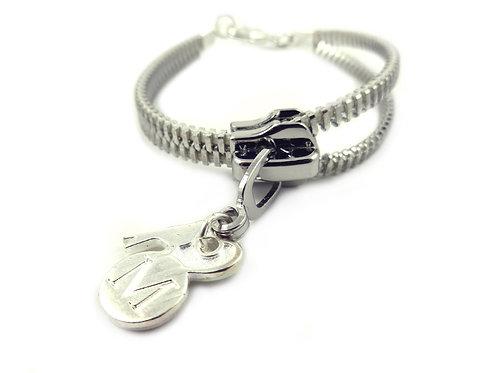 Zip Me Up Silver Single Bracelet