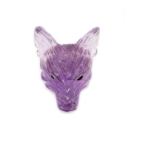 Wolf Head-Amythyst 30mm