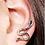 Thumbnail: Cubic Zirconia Snake Climber Earring