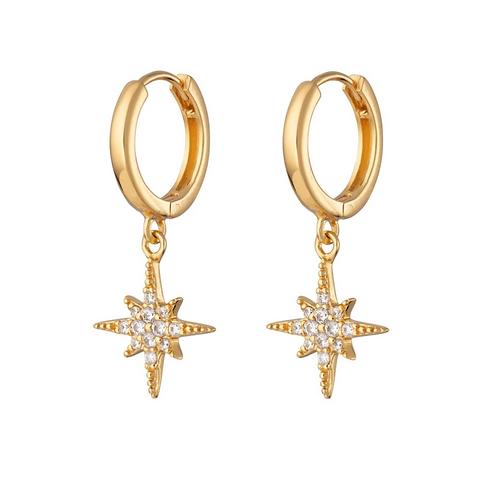 Starburst Hoop Earrings (Pair)