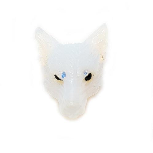 Wolf Head-Opalite 30mm