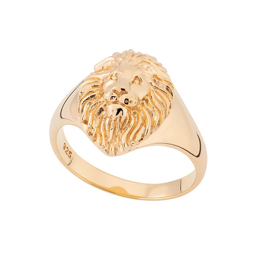 "Lion Head Signet Ring ""NEW"""