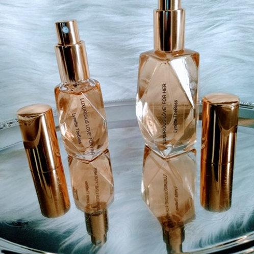 Women's Diamond Cut Clear Glass Bottle