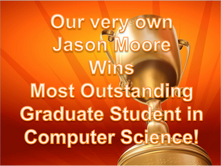 Jason Moore wins Most Outstanding Student in CS!