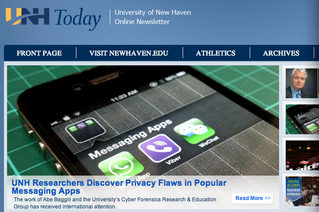 Our vulnerabilities featured in UNH Today