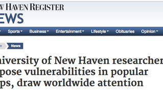 UNHcFREG's vulnerabilities featured in the New Haven Register