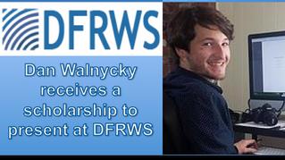 Daniel Walnycky wins a scholarship to present at DFRWS 2015!