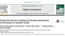 New article published in Journal of Digital Investigation : Testing the forensic soundness of forens