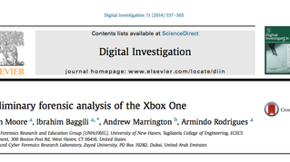 New article published in the Journal of Digital Investigation: Preliminary forensic analysis of the