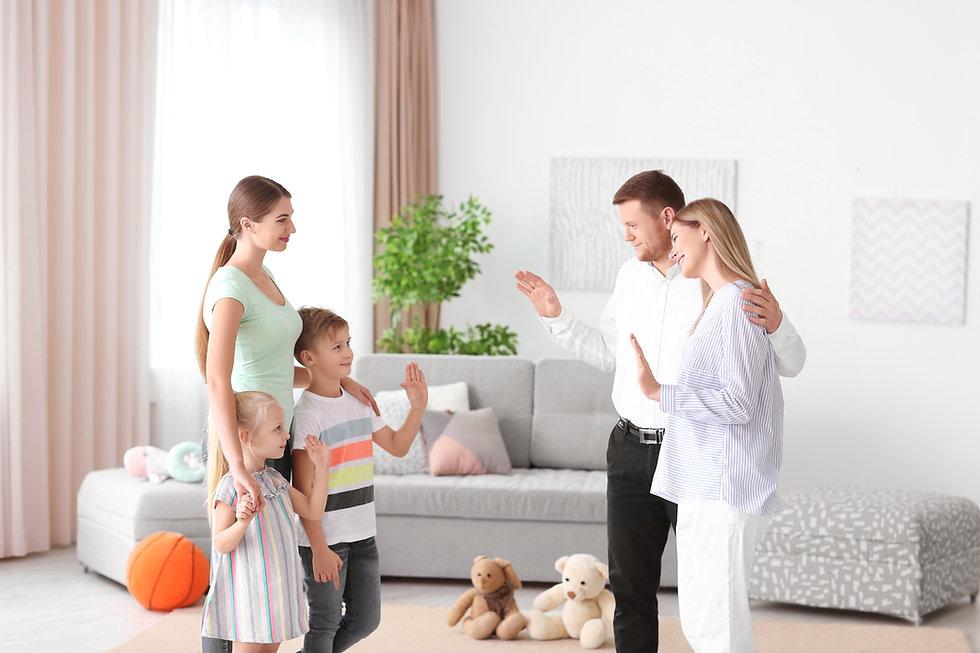 Parents leaving their children with nann