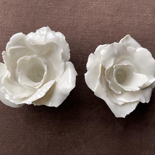 Single Rose porcelain candle holder