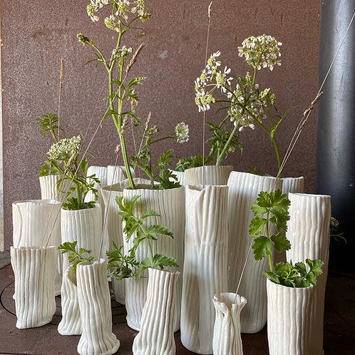 Porcelain flower's vases set of (3 small)