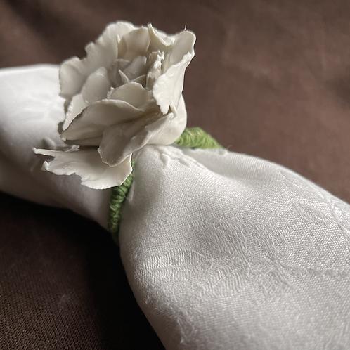 Rose napkin holder, handcraft porcelain