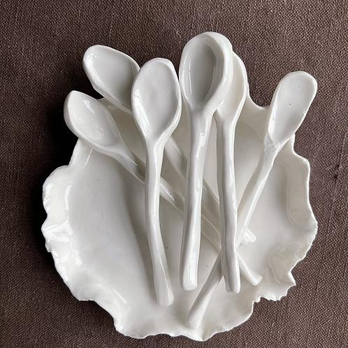 Porcelain coffee spoon