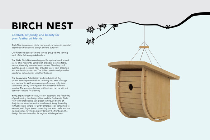 Comfort, simplicity, and beauty for your feathered friends.
